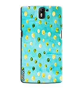 Omnam Skyblue Base With Dot Pattern Printed Designer Back Cover Case For One Plus One
