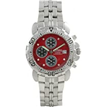 Krug Baumen 241269DM-R Mens Sportsmaster Red Diamond Chronograph Watch