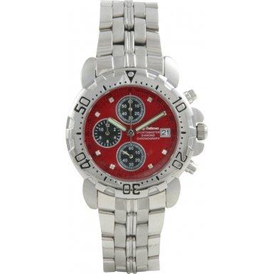 Krug Baumen 241269DM-R Krug-Baumen Sportsmaster Red Diamond Mens Chronograph Watch