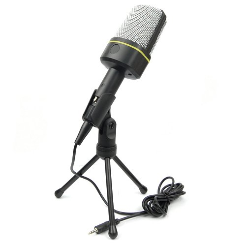 3.5Mm Pc Computer Laptop Condenser Microphone Mic Msn Skype W/ Volume Ctrl