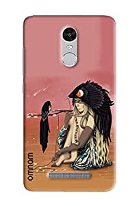 Omnam Girl With Bird Sitting Printed Designer Back Cover Case For Xiaomi Redmi Note 3