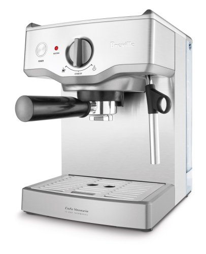 Breville BREBES250XL Cafe Venezia Espresso Maker, Silver Metallic
