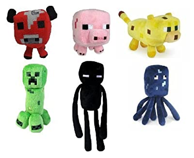 Minecraft Plush Set of 6PCS by Mojiang