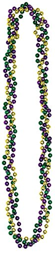 mardi gras twist necklace