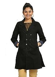 Fbbic Women's Short Coat (16151_X-Large_Black)