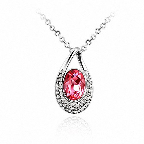 TAOTAOHAS- [ Search Name: My Only Love ] (1PC) Crystallized Swarovski Elements Austria Crystal Pendant Necklace, 18KGP Marked, Made of Alloy Plated with 18K True Platinum / White Gold and Czech Rhinestone