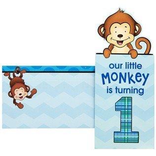 1st Birthday Monkey Invitations Choice Image Invitation Templates