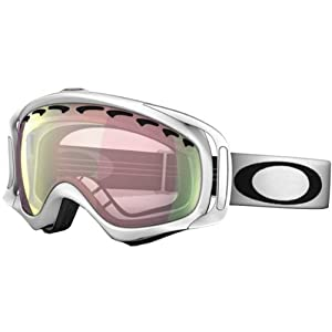 a32f1cd586a Oakley Crowbar Matte White Adult Asian Fit Snocross Snowmobile Goggles  Eyewear VR50 Pink Iridium   One Size Fits All on PopScreen