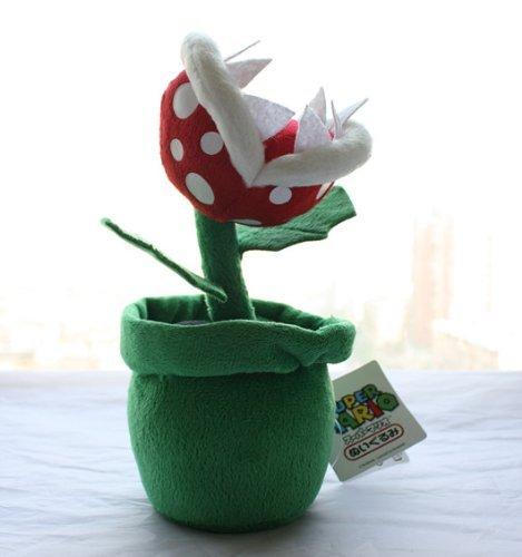 Piranha Plant Plush Doll Super Mario Brother Soft Toy Stuffed Animal Doll Flower