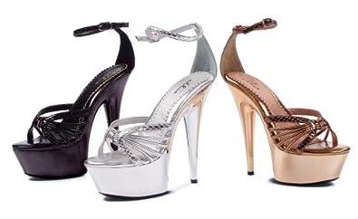Ellie Shoes Women's 609-RHONDA Black Sandals 6 B(M) US