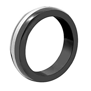 M2M Metal C-ring, Black With Stainless Steel Band, Includes Bag, 2.0