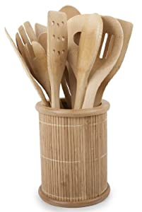 Core Bamboo Classic 14-Piece Kitchen Utensil Set, Natural
