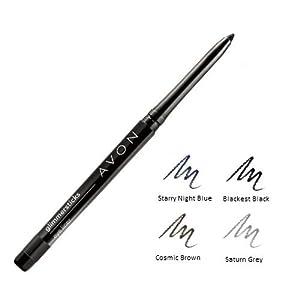 Avon Glimmersticks set of 4 mixed shades (Blackest Black, Cosmic Brown, Starry Night Blue, Saturn Grey)