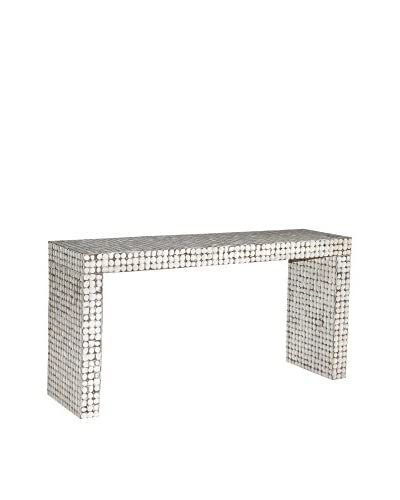 Jeffan Cassy Console Table, White Patina