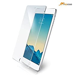 roocase iPad Mini Glass Screen Protector - iPad Mini 3, 2 & 1 Glacial Premium Tempered Glass Screen Protector for Apple Mini 3 (2014) / Mini 2 and 1, Protect from Scratches - 99.9% Clarity and Touchscreen Accuracy [Anti-Scratch / Anti-Fingerprint]
