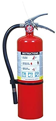 2 pack of Victory PD5LB 5lb Heavy Duty ABC Multipurpose Fire Extinguisher 3-A, 30-B: C Brass Valve Stainless Steel Handle w/ Wall Hook