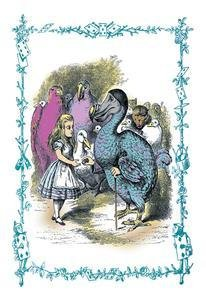 Alice In Wonderland Dodo Gives Alice A Thimble Fine Art Giclee Canvas Print (20 X 30)