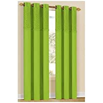 Annecy Curtain (Set of 2) Color: Lime