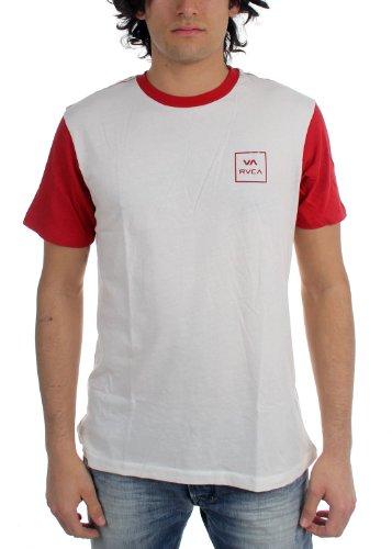 rvca-top-uomo-vintage-white-pompei-red-medium