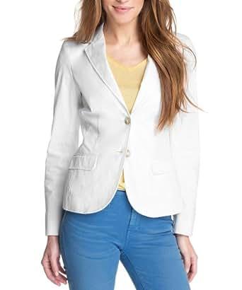 ESPRIT Damen Blazer Q27482, Gr. 36 (S), Weiß (white 100)