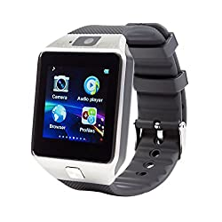 AROMA Smart Watch Silver DZ09 Phone With Camera and Sim Card & SD Card Support With Apps like Facebook and WhatsApp Touch Screen...