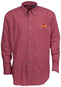 Oxford NCAA Iowa State Cyclones Mens Mini-Check Button Down by Oxford