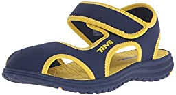 Teva Tidepool CT Water Sandal (Toddler/Little Kid), Navy/Yellow, 4 M US Toddler