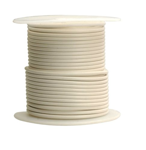 Coleman Cable 18-100-17 Primary Wire, 18-Gauge 100-Feet Bulk Spool, White