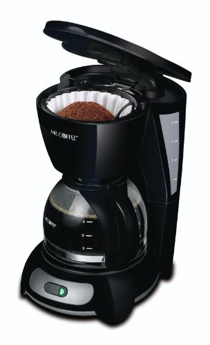 New mr coffee tf5gtf 4 cup switch coffeemaker black with for Apartment coffee maker