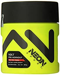 Neon Sport Volt Creatine Free Preworkout with Beta Alanine, Electric Punch, 36 Servings