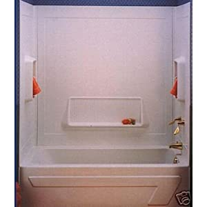 "Better Bath® 54"" x 27"" White ABS 1 Piece Bathtub Wall Surround"