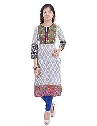 Shop Rajasthan Women's Cotton Printed 3/4 Sleeve Kurti - B016YAUQVC