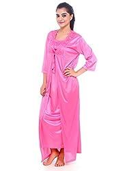 Jp Enterprise Women's 2 Piece Sexy Satin Night Wear