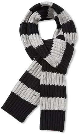 Hilfiger Denim Echarpe Homme - Noir - Schwarz (078 TOMMY BLACK / LIGHT GREY HEATHER) - FR : Taille unique (Taille Fabricant: one size)