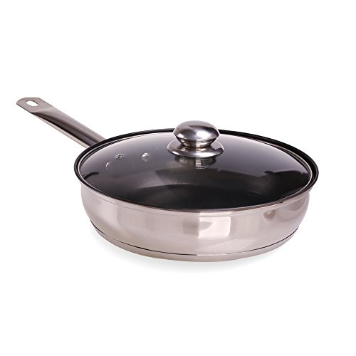 pansdore-10-inch-26cm-stainless-steel-fry-pan-with-glass-lid-100-pfoa-free-non-stick-coating-and-mir