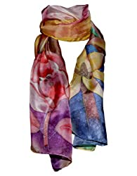 Hand-Painted Silk Scarf - Daylilly