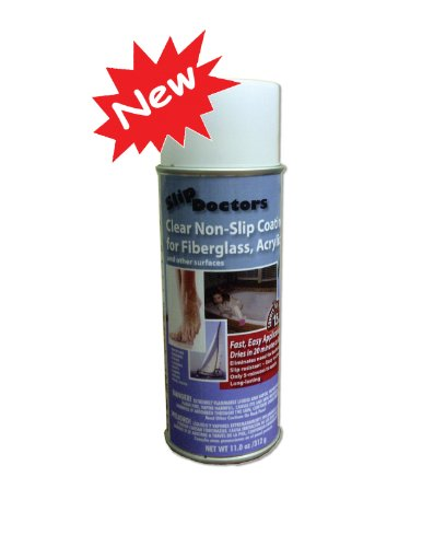SlipDoctors Non Slip Resistant Spray for Fiberglass, White - 1