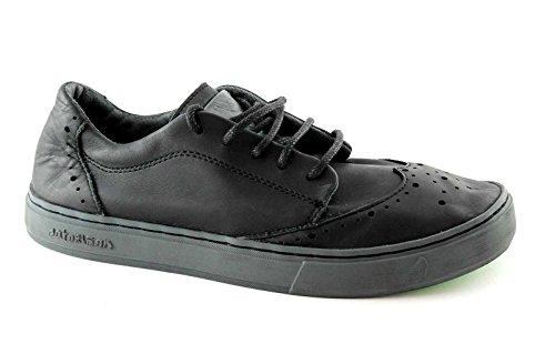 SATORISAN 162005 Koa black nero scarpe uomo derby lacci puntale pelle 43