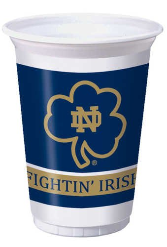 Creative Converting Notre Dame Fighting Irish Printed Plastic 20 oz. Cups (8 Count) (Themed College Parties)