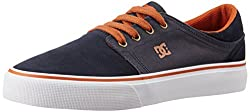 DC Unisex Trase Sd Navy Suede and Canvas Sneakers - 7 UK