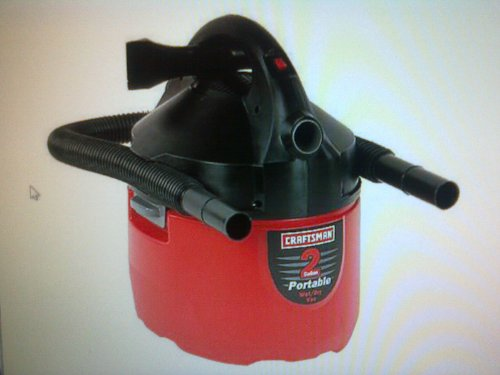 Craftsman Clean N Carry 2 Gallon Wet/Dry Canister Vac front-497582