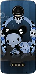The Racoon Grip Spooky hard plastic printed back case/cover for Motorola Moto Z
