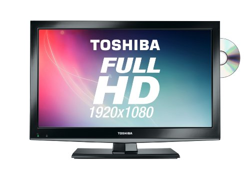 Toshiba 22DL702B 22-inch Widescreen Full HD 1080p LED TV with Freeview and Built-in DVD Player