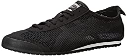 Onitsuka Tiger Mexico 66 Fashion Sneaker, Black/White(Mesh), 10 M Men\'s US/11.5 Women\'s M US