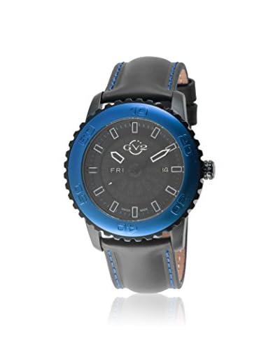 GV2 Men's 9703L Aurora Black/Black Silicone Watch