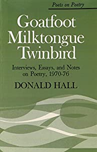 donald hall essays Donald hall writes about living alone in the same house his family has occupied since the civil war, and what it has been like to outlive his wife.