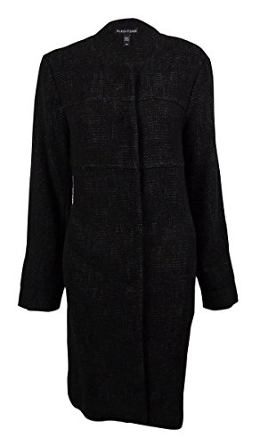 Eileen Fisher Women's Stitched Cotton Linen Tweed Jacket (S, Black) (Jackets Eileen Fisher compare prices)