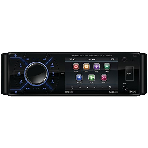 BOSS Audio BV7345 In-Dash Single-Din 3.2-inch Detachable Screen DVD/CD/USB/SD/MP4/MP3 Player Receiver with Remote
