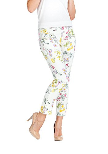 Bluberry Denim Women's Plus Size Floral Print Crop Jeans