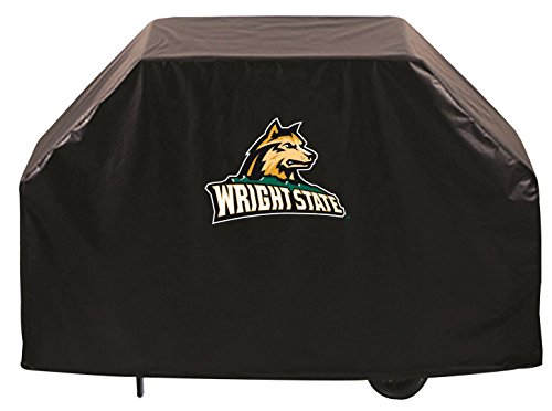 Wright State Raiders HBS Black Outdoor Heavy Duty Vinyl BBQ Grill Cover (60